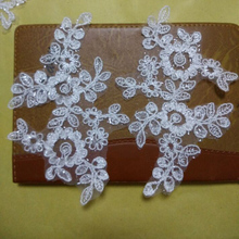 Sequin Lace Patch Guipure Trim Embroidery High Quality Car Bone Appliques For Wedding Accessories TT275