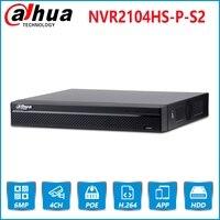 Dahua Английский Оригинальный NVR2104HS P S2 4 канала POE NVR компактный 1U 4PoE Сетевой Видео регистраторы Full HD 6MP NVR