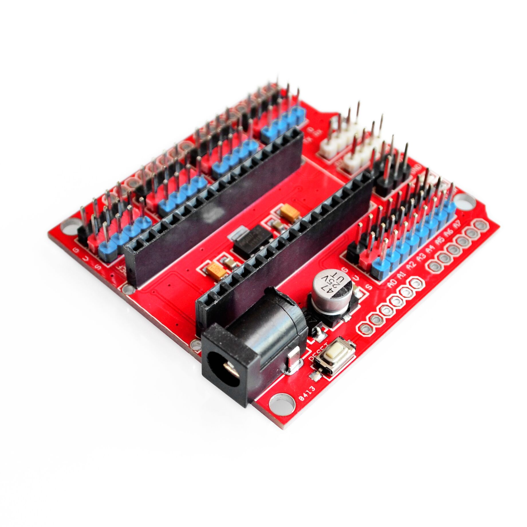 1x Nano V3 Sensor Shield I//O Extension Board Expansion Module Uno IO f Arduino