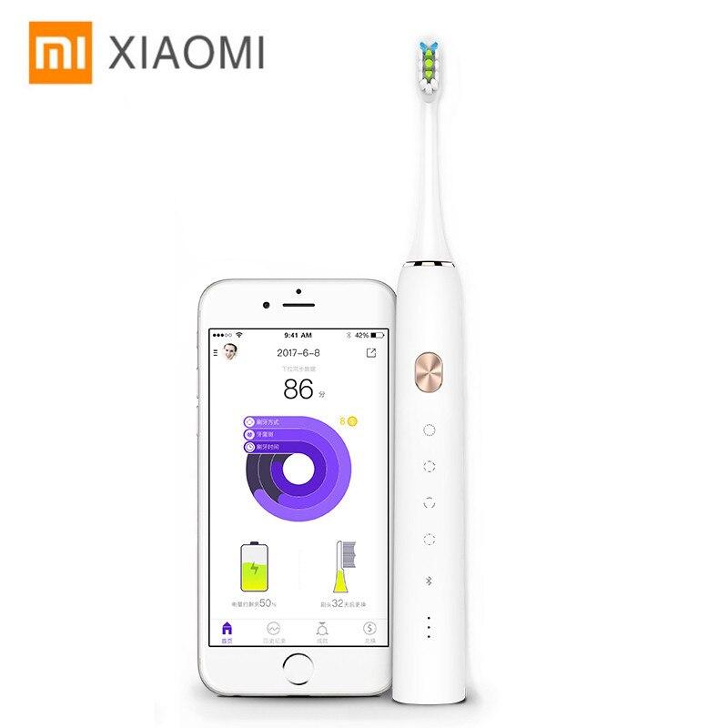 Xiao Mi soocare soocas электрическая Sonic Smart Зубная щётка Bluetooth Водонепроницаемый Беспроводной заряжать Android IOS Mi приложение Home