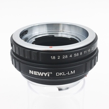 NEWYI Lens Adapter For Dkl Lm Voigtlander Retina Deckel Lens To L eicam With Techart Lm Ea7 Camera Lens Ring Accessories