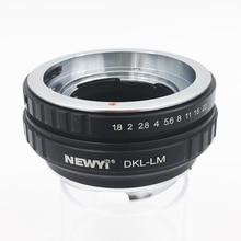 NEWYI adaptateur dobjectif pour dkl lm Voigtlander Retina Deckel objectif à L eicam avec Techart Lm Ea7
