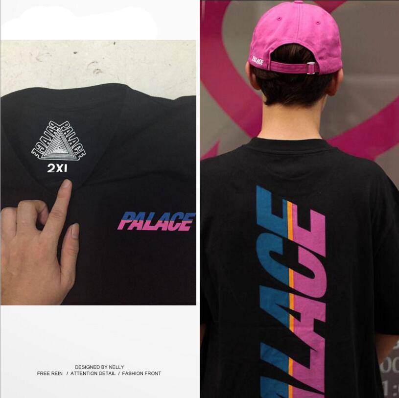 0557983a3846 Palais T shirt Men 1  1 High Quality Palace Skateboard T-Shirts 100% Cotton  Summer Short Sleeve Style Causal Tee Palace T Shirt
