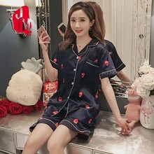 Women Pajama Set Rayon Silk Sleepwear Long Sleeve Trousers Two Paper Sui Plus Size 5XL Pajamas Summe