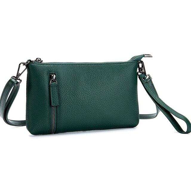 5fa6db6c9070 BARHEE Brand Top Quality Genuine Leather Women Handbag Clutch Wallet  Envelop Crossbody Bags Leather Simple Summer Mini Sling Bag
