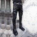 2017 новый Корейский Сделать старый брюки мужская мода черный личности ноги штаны Бар ночном клубе певица stage костюмы одежда