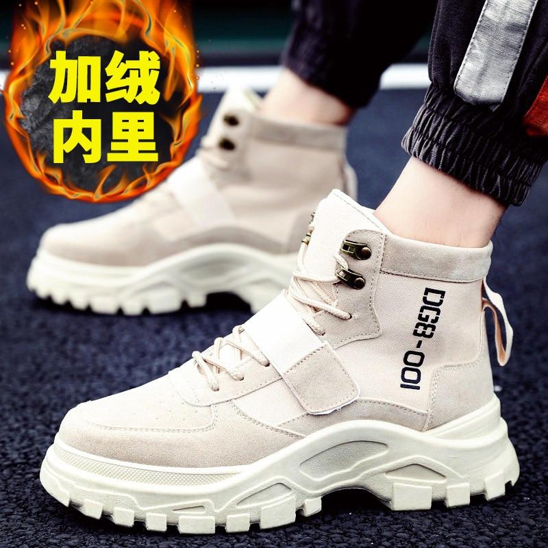ZSUO/брендовые новые весенние мужские рабочие ботинки; кожаные ковбойские ботильоны в стиле ретро; высококачественные ботинки без застежки; ... - 5