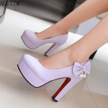 AGUTZM Customized women shoes high heels with high-heeled butterfly knot diamond V639