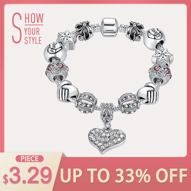 ELESHE Luxury Brand Women Bracelet 925 Unique Silver Crystal