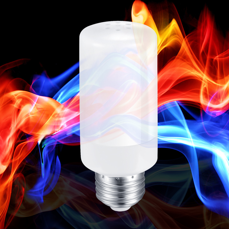 New Colorful E27 E14 B22 2835SMD Flame LED lamp Effect Fire Filament Bulb 66 99LEDS Flickering indoor outdoor Lights 85~265V