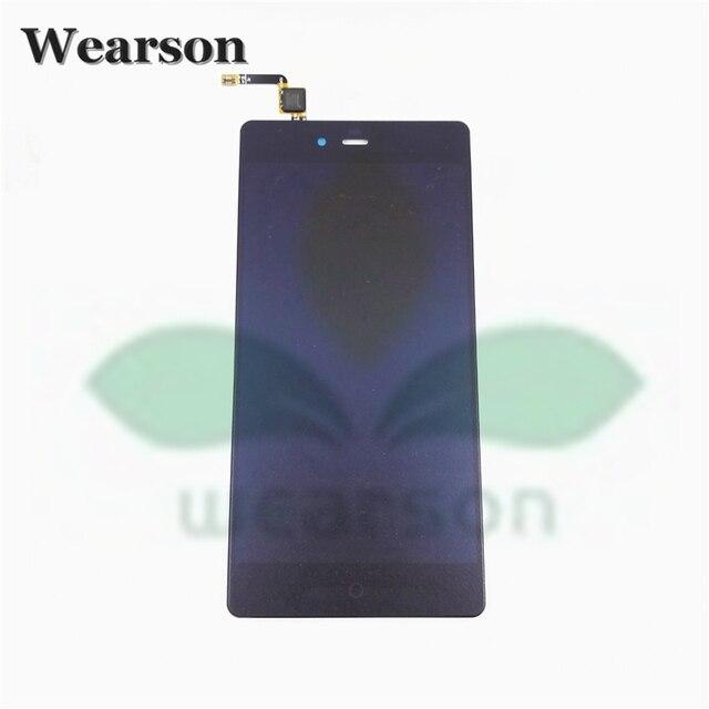Para zte z9max nx510j nx512j nx518j visor do painel de lcd e montagem da tela de toque original frete grátis com número de rastreamento