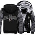 Wholesale Falcons American Footballs Team Men's Hoodies And Sweatshirts Zipper Jacket Hoodie Sportwear Tracksuits