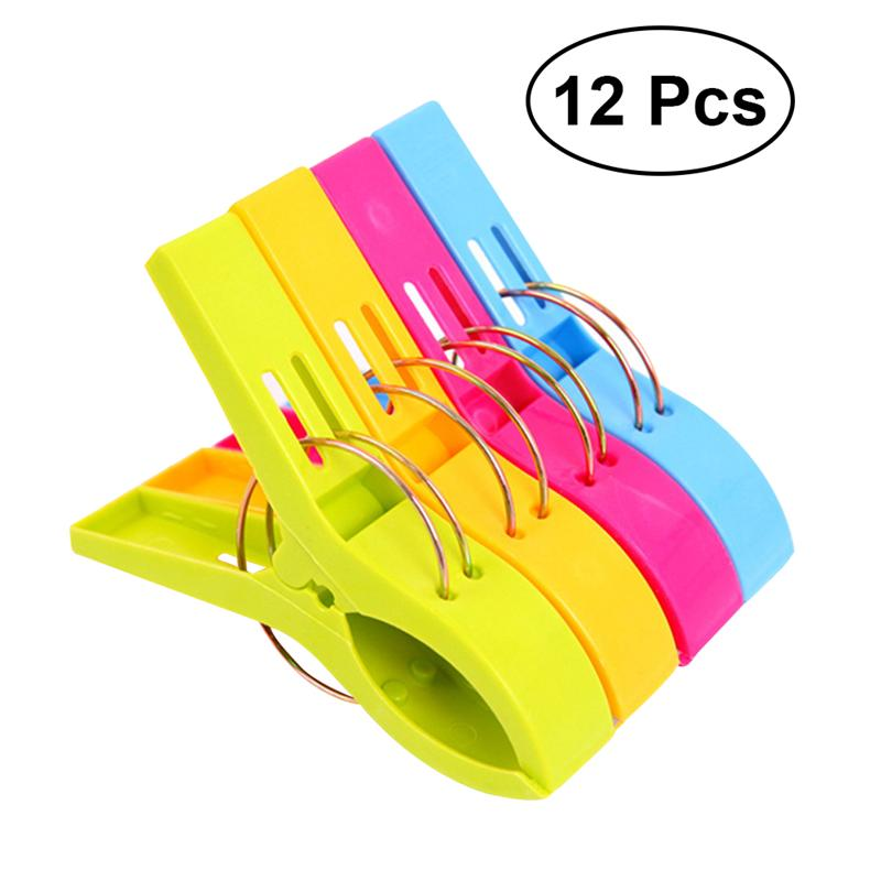 Bulk Beach Towel Clips: Aliexpress.com : Buy OUNONA 12pcs Plastic Clothespins