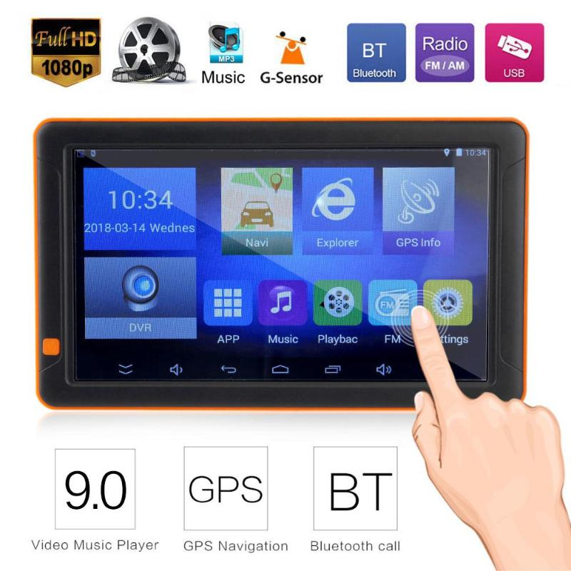 VODOOL 9 inch HD Car GPS Navigation Bluetooth WiFi FM MP3/MP4/MP5 Player 16G AVIN Truck Night Vision GPS Sat Nav Map Navigators rui ruizu x20 16g синяя линия поддержки без потерь качества звука mp3 mp4