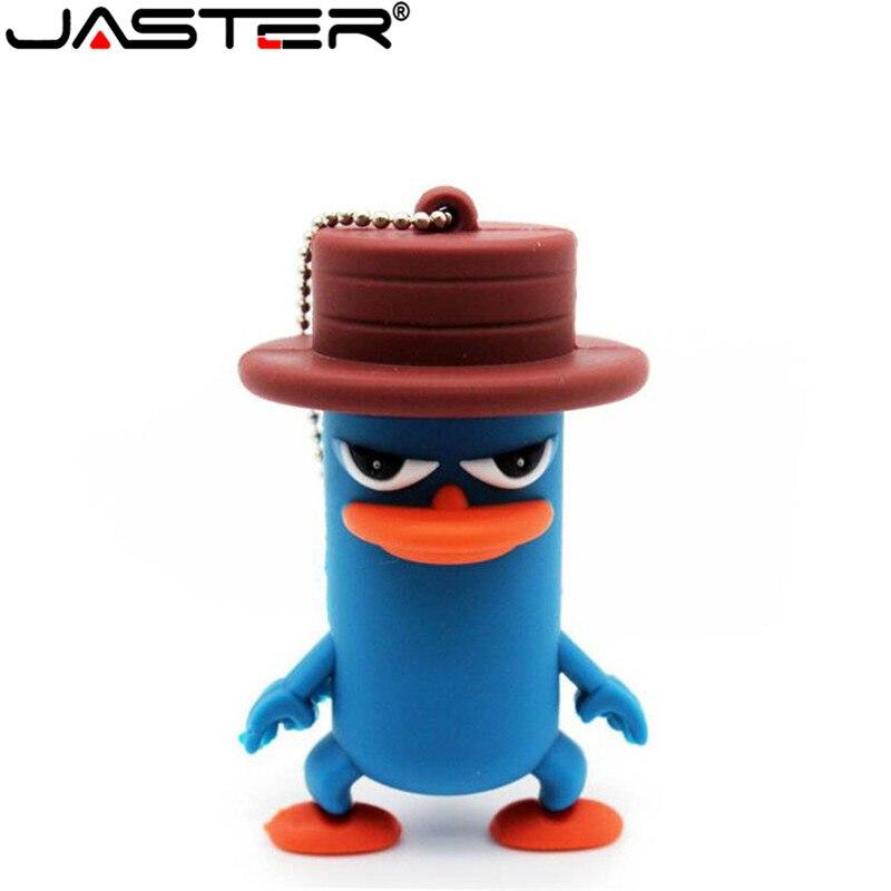JASTER Lovely Animal Flat Upper Beak Duck USB Flash Drive Pen Drive Pendrive 64GB 32GB 16GB 8GB Flash Memory Stick U Disk