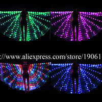 Newest Colorful Led Luminous Evening Party Dress Wings Light Up Stage Performance Costumes For Club Party Bar Halloween Cloak
