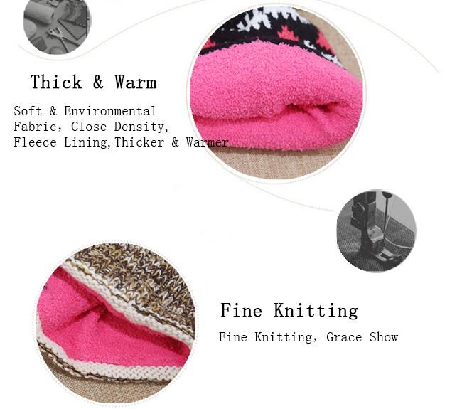 Acrylic Knitted Pattern Women Men Beanie Hat with Pom Pom (10)