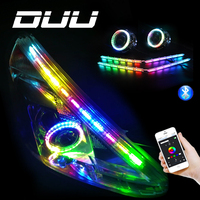 DUU Welcome Lamp Car Styling Led RGB Strip Lights Colors Colorful Car Interior Decorative With Remote Control