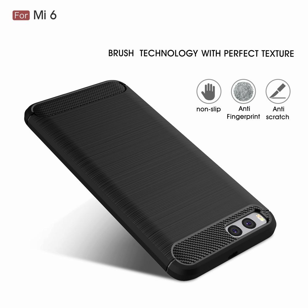 Xiaomi mi6 mi 6 arxa örtük üçün orijinal Carbon Fiber Soft TPU - Cib telefonu aksesuarları və hissələri - Fotoqrafiya 2