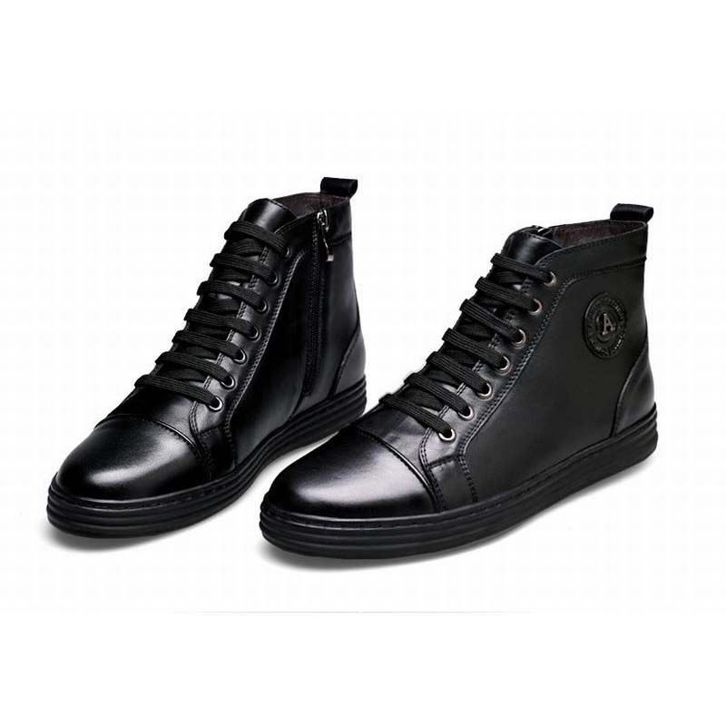 Korean classic men boots genuine leather black luxury new fashion formal casual ankle boots men shoes lace-up zip high top shoes хромовые накладки для авто guard rain shield sun visor vent sun hyundai tucson ix35