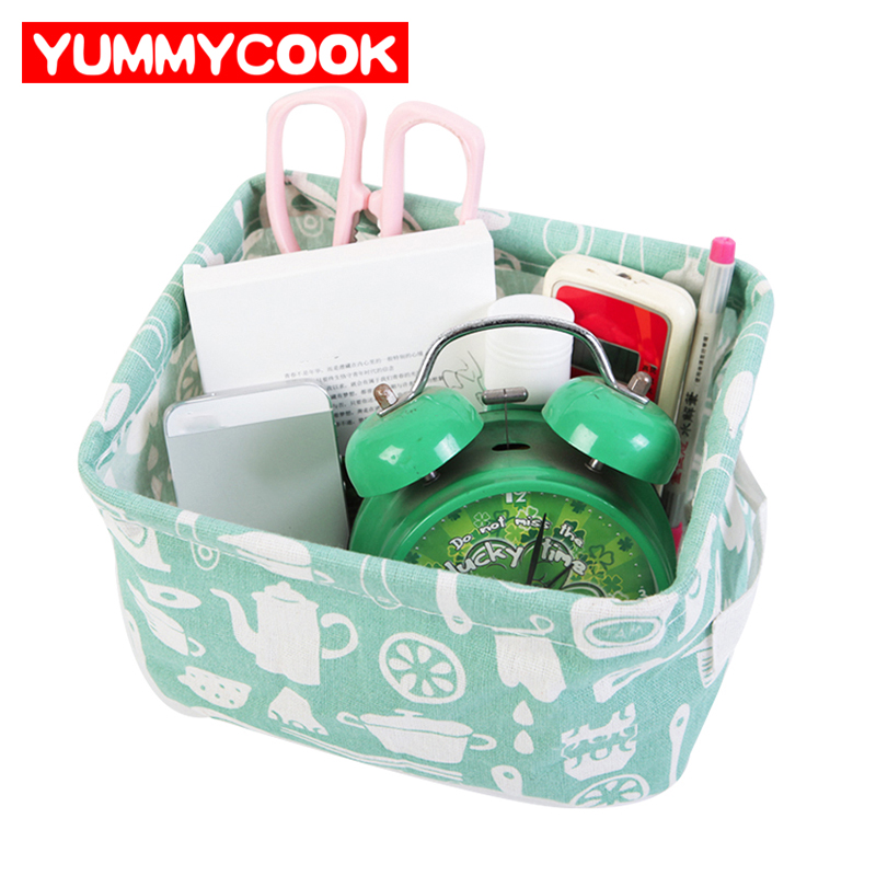 Cotton Linen Dirty Clothes Storage Baskets Folding Laundry Toy Office Boxes Home Organization Accessories Supplies Products
