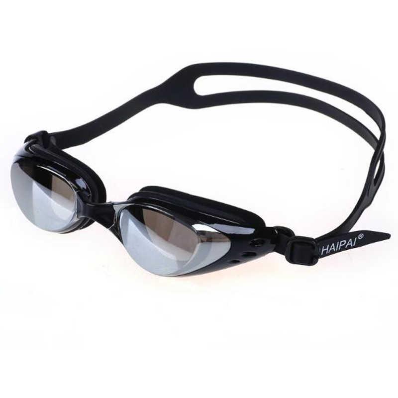 0b07a400989 Men Women Professional Swimming Pool Goggles Anti Fog UV Protection Swim  Diving Glasses Eyewear Silicone Electroplate