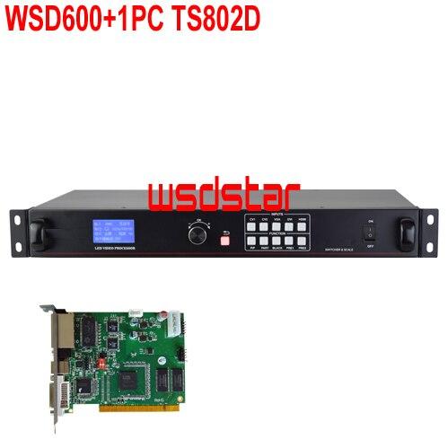 WsdStar WSD600 1PC TS802D LED Video Processor HDMI DVI VGA CVBS input 1920 1200 pixel Support