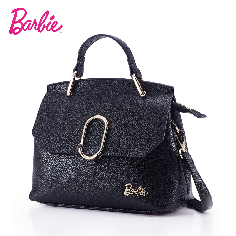 цены Barbie 2018 Women's shoulder Bag Leather simple style black ladies handbag female fashion Cross body Bags for women