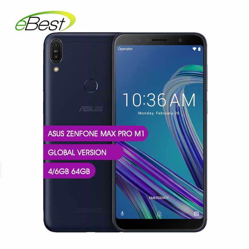 Global Version Asus ZenFone Max Pro M1 ZB602KL 6 inch 4G LTE Smartphone 18:9 FHD 5000mAh Snapdragon 636 Touch Android CellPhone