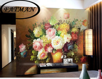 Free Shipping Continental 3D Stereoscopic Large Mural Van Gogh Painting Wallpaper Bedroom Living Room TV Background