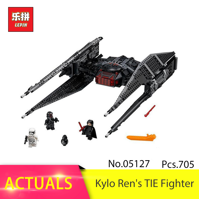 LEPIN 05127 705Pcs Tie Model Fighter Set Model Building Blocks Bricks Educational Toy For Children DIY Christmas Gifts 75179 lepin 562pcs building blocks toy tie fighter diy assemble figure educational brick brinquedos for children compatible legoe