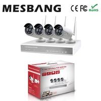 Mesbang 720P 4 Channel Wireless Wifi Cctv IP Camera Nvr Kits 4ch Free Shipping