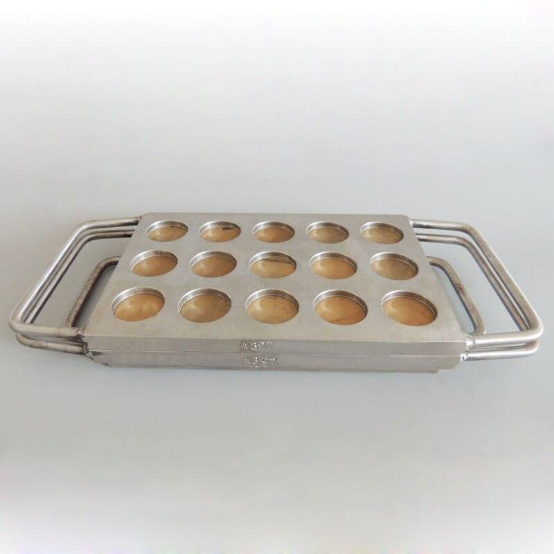 15 buracos slots 26mm Manual Molde Pressionado jogo 26mm alumínio pan sombra, sombra em pó de ferro de imprensa molde