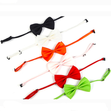 Pet Dog Cat Collar Adjustable Strap Pet Cat Bow Tie Puppy Bow Tie Pet Dog Supplies contrast bow tie strap top