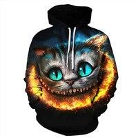 3D Printed Cat Hoodies Women Hoody Men Sweatshirt Hooded Jumper Coats Tracksuits Unisex Pullovers Streetwear Sweatshirts Hoodie