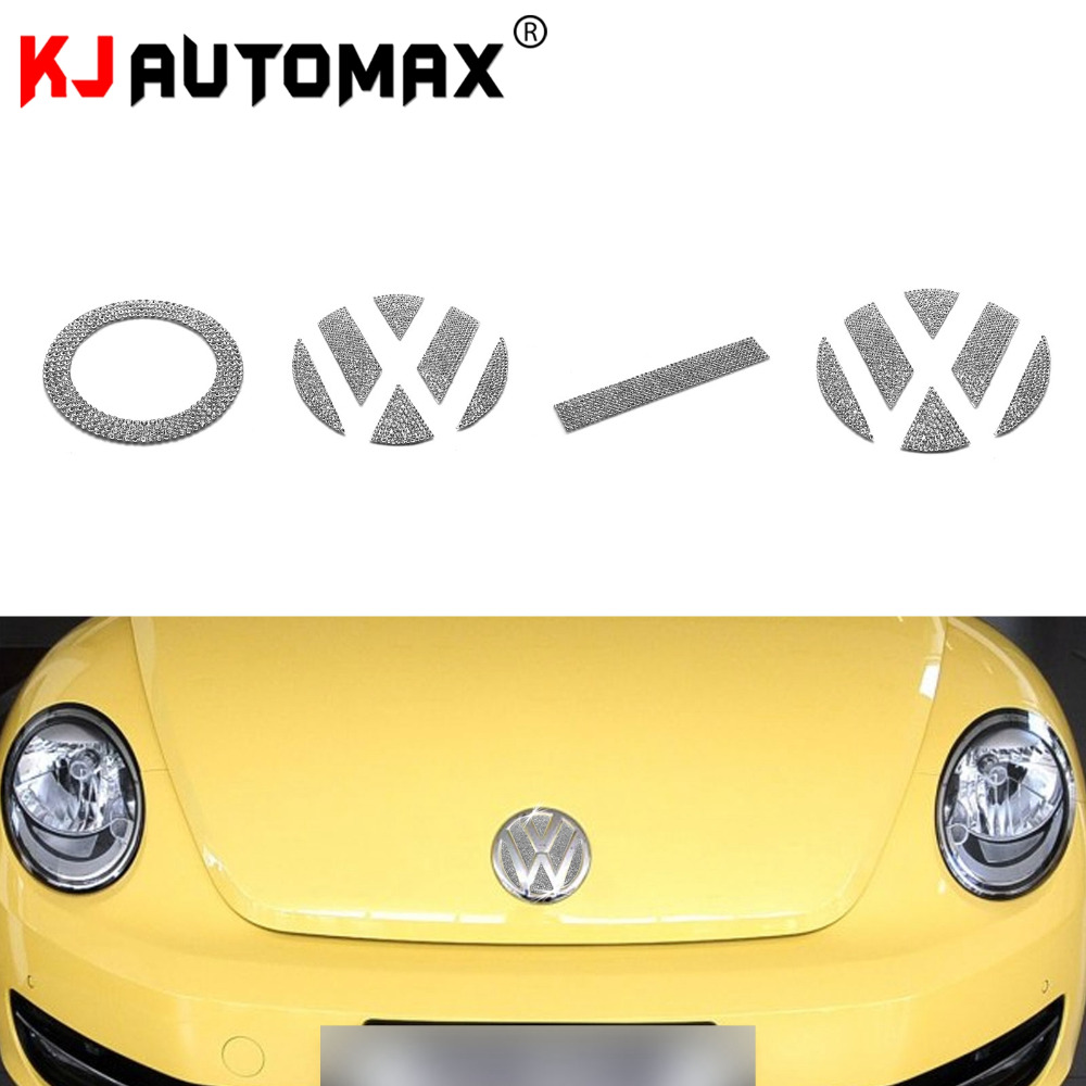 For Volkswagen Beetle Bling Crystal Emblem Sticker Car Styling Accessories Decoration Year 2000-2013
