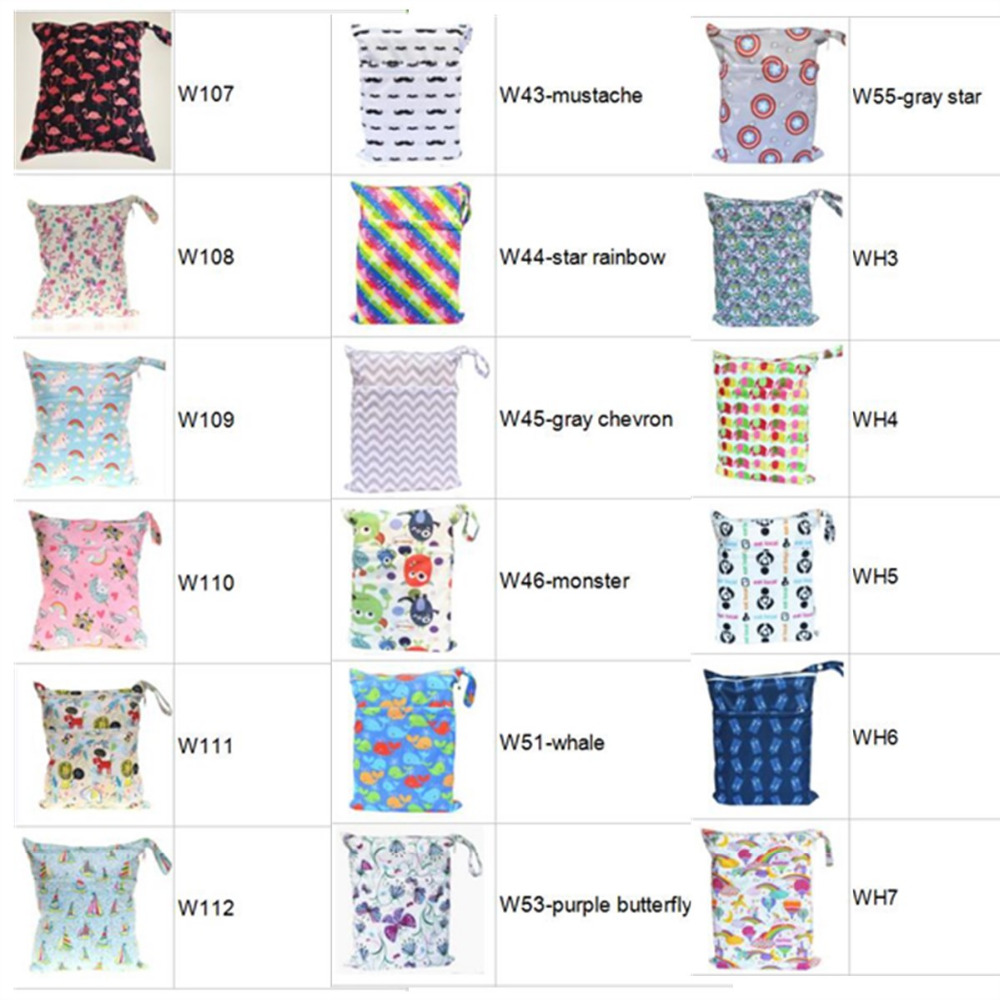 HTB1dEOfXffsK1RjSszbq6AqBXXaH [Sigzagor]Wet Dry Bag With Two Zippered Baby Diaper Bag Nappy Bag,Waterproof Reusable 36cmx29cm Owl&Tree 100 Designs