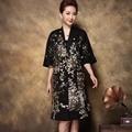 Вышитые пальто для женщин 2016 atutumn новые Длинные участки Китайский национальный стиль вышивка элегантный цветочный пальто женщина 3XL