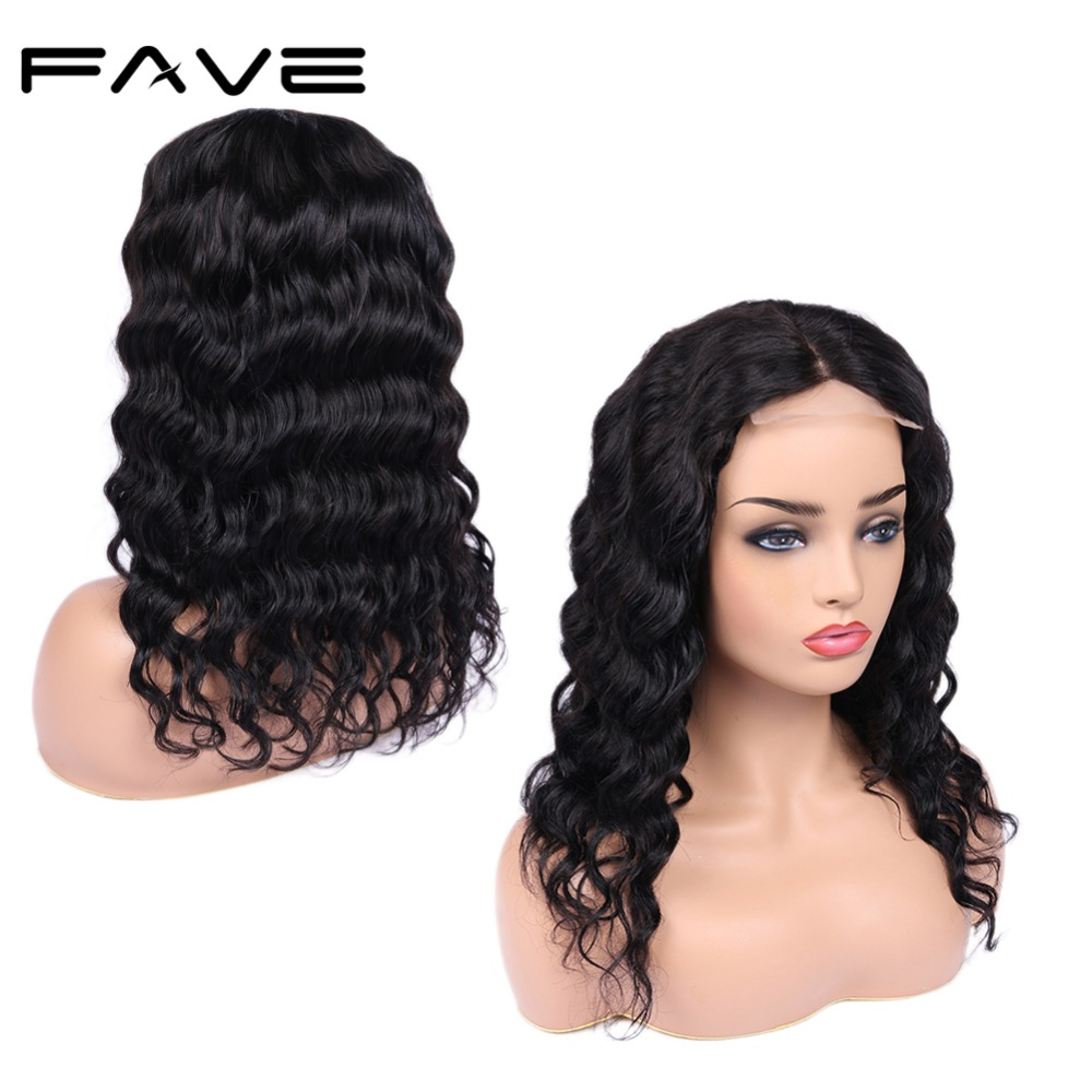 Lace Front Wigs 4*4 Lace Closure Loose Wave Human Hair Wig Pre Plucked 150% Density Wet Wavy Wigs For Women Fave Hair