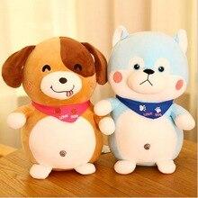 Lovely Husky Dog Wearing Scarf Soft Plush Toy Stuffed Animal Doll Children Birthday Gift