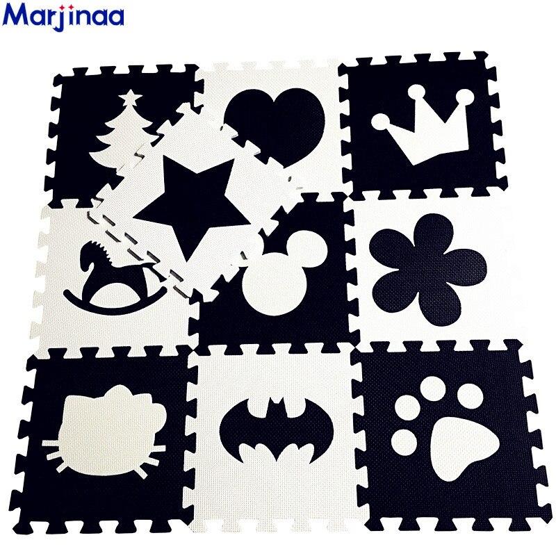 EVA Children's Soft Developing Crawling Rugs,baby Play Block Batman/letter/Mickey Foam Mat Black White Pad Floor For Baby Games