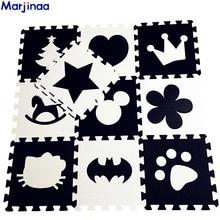 إيفا الأطفال لينة تطوير السجاد الزحف ، الطفل تلعب كتلة باتمان/رسالة/ميكي رغوة حصيرة أسود أبيض وسادة الكلمة للألعاب الطفل