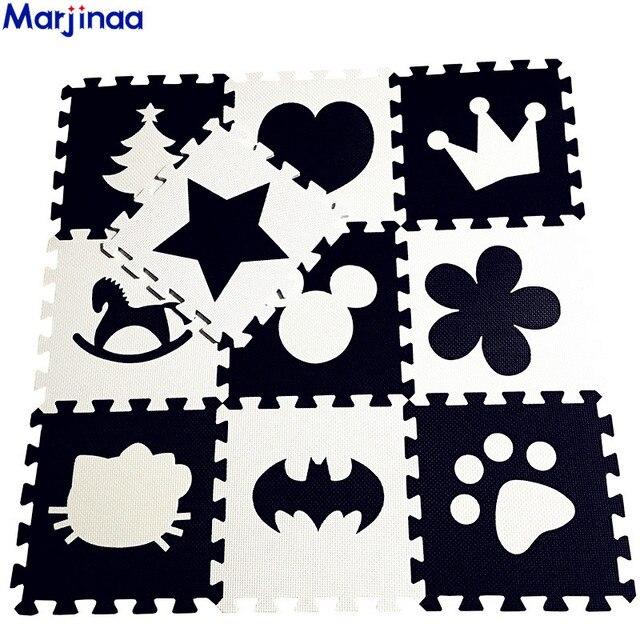 Alfombras de gateo DE DESARROLLO suave de EVA para niños, alfombra de espuma de Batman/Carta/Mickey, suelo de almohadilla blanca negra para juegos de bebés