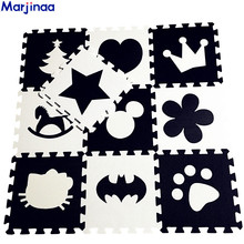 EVA Childrens soft developing crawling rugs,baby play Block Batman/letter/Mickey foam mat Black White pad floor for baby games