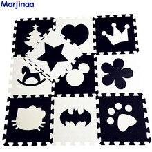Tapis rampants en développement doux pour enfants EVA, bloc de jeu pour bébé Batman/lettre/Mickey tapis en mousse noir tapis blanc pour jeux de bébé
