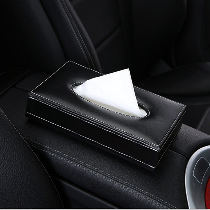 cheapest Bling Crystal car tissue Box Luxury PU Leather Auto Paper Box Holder Cover Case Tray for Home Office Automotive