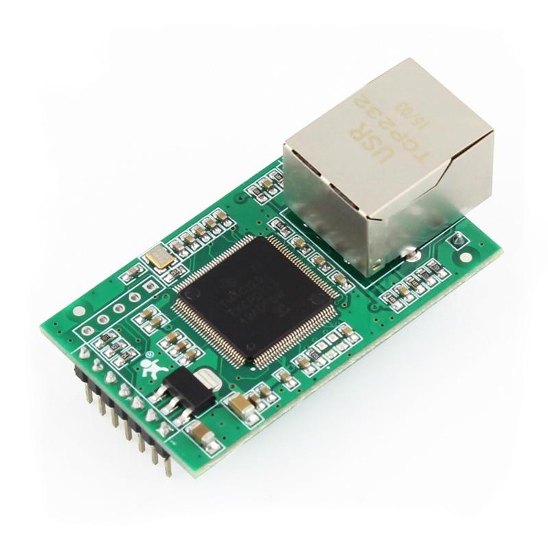 USR TCP232 E2 Serial Port RS232 RS485 to Ethernet Module UART TTL to LAN Network Converter Support Modbus RTU to Modbus TCP Q005