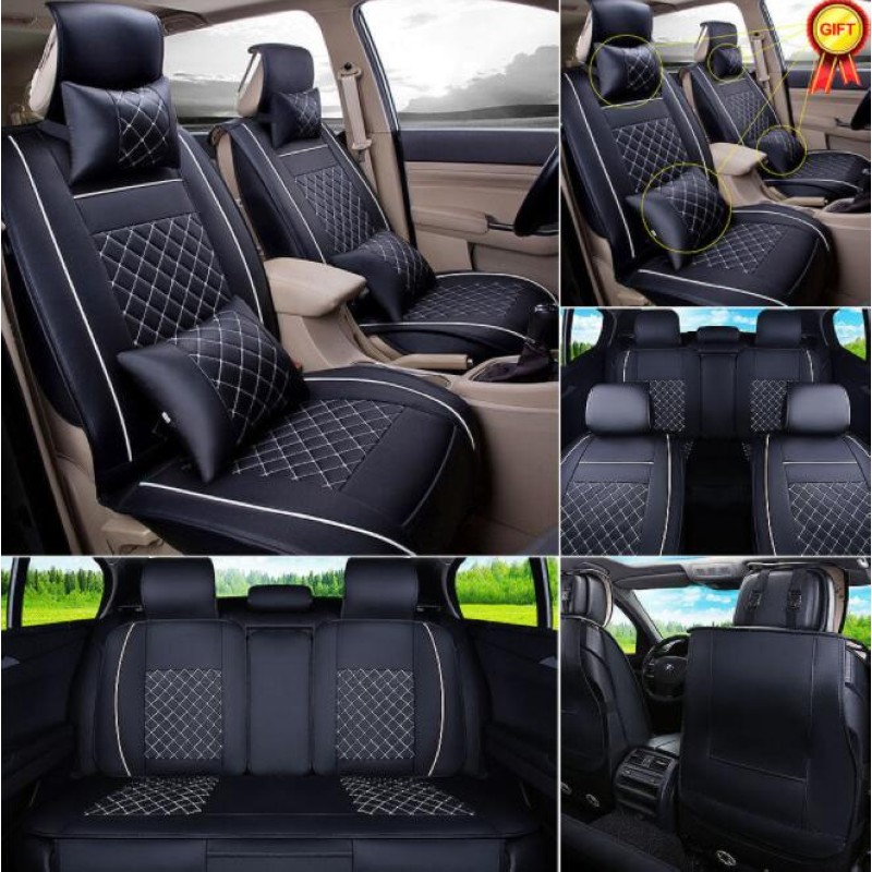 11Pcs/set Luxury version Car Universal Seat Cover PU Leather Front & Rear Cushion For Hyundai solaris Sonata Toyota Honda universal car front seat soft cover pad pu leather mat chair cushion black gray for toyota bmw nissan honda vw
