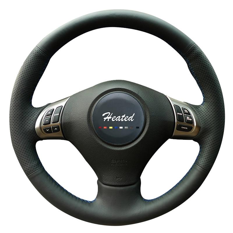 Car Steering Wheel Cover for Subaru Forester 2008-2012 Impreza 2008-2011 Legacy 2008-2010 Exiga 2 braid on the steering wheel