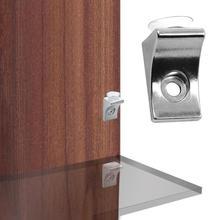 10 шт. угловая стеклянная полка на присоске, фиксирующая подставка, зажим, зажим, цинковый сплав+ пластиковая дверная фурнитура для двери